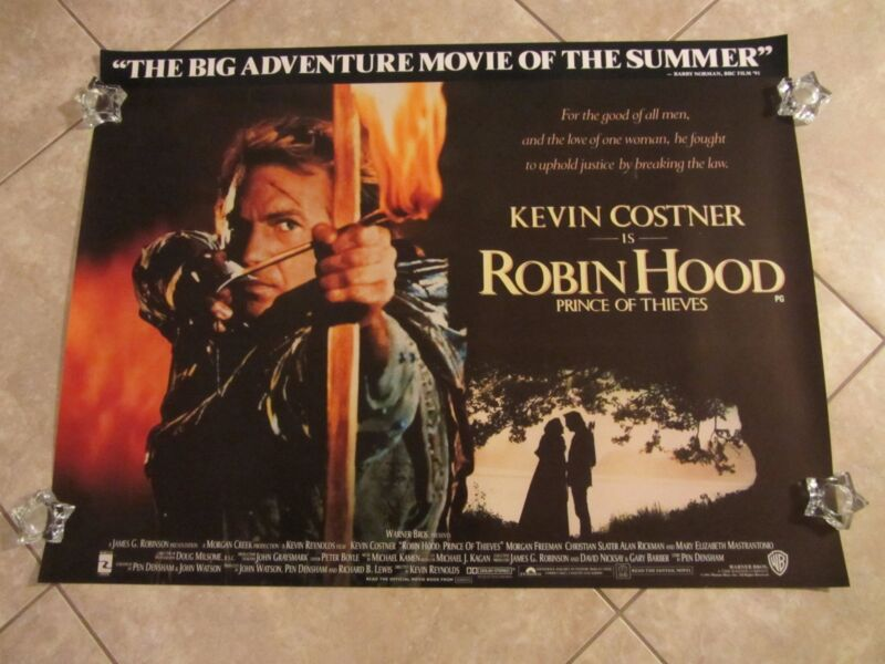 Robin Hood Prince Of Thieves movie poster  (b)  - Kevin Costner