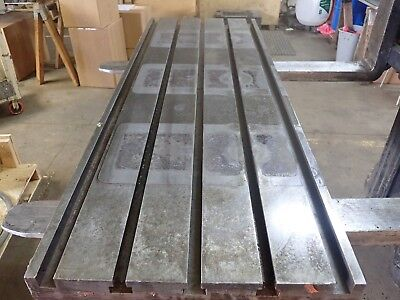 51.75 X 18 X 4.5 Steel Weld T-slot Table Cast Iron Layout 5 Slot Jig