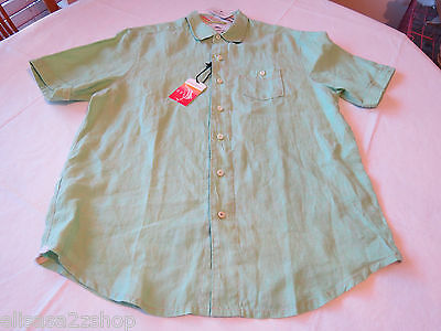 Tommy Bahama T34745 Party Breezer Linen Men's button shirt S Electric Palm 5775