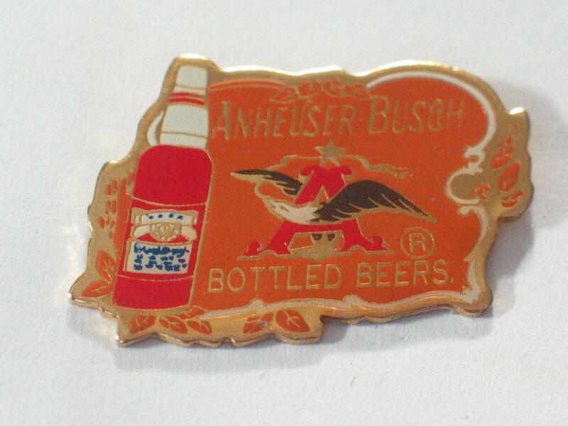 Anheuser Busch Bottled Beer Pin  Vintage