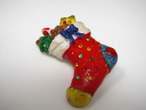 Vintage Christmas Pin: Stocking Very Cute