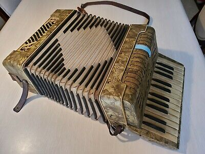 Original WELTMEISTER 32 Base Accordion Vintage Instrument - USED SOLD AS IS