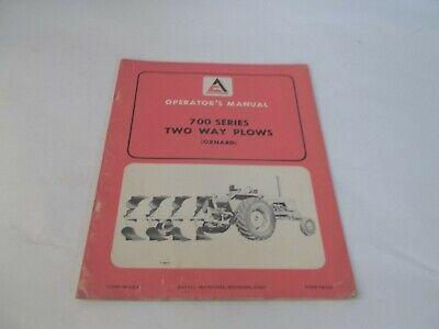 Allis-chalmers 700 Series Two Way Plow Operators Manual