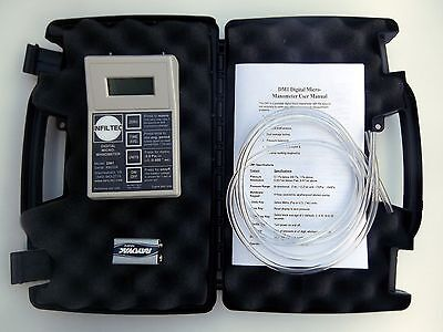 Infiltec Dm1 Digital Micro-manometer Differential Pressure 0.1 Pascal 0.001 Wc