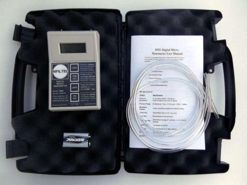 """Infiltec DM1 Digital Micro-Manometer  differential pressure 0.1 Pascal 0.001 """"wc"""