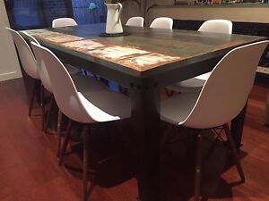 Rustic reclaimed timber dining setting Caroline Springs Melton Area Preview