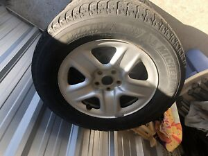 Michelin X-Ice 235/65/17 winter radials with 5x114.3 wheels