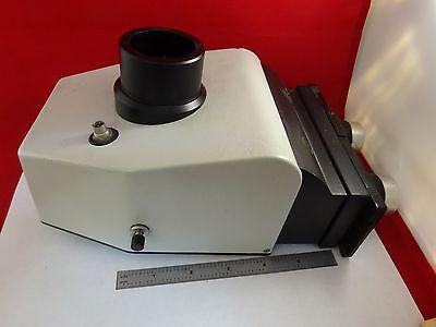 Microscope Part Trinocular Head Leitz Germany 51276120 Optics As Is Bne2-ii-02