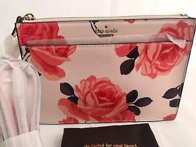Kate Spade genuine new ladies Clarise Cameron Street Roses handbag PXRU7522