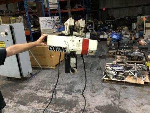 Coffing 2 Ton Electric Chain Hoist 230/460v 3 Ph W/ Trolley 10' Chain #23hk