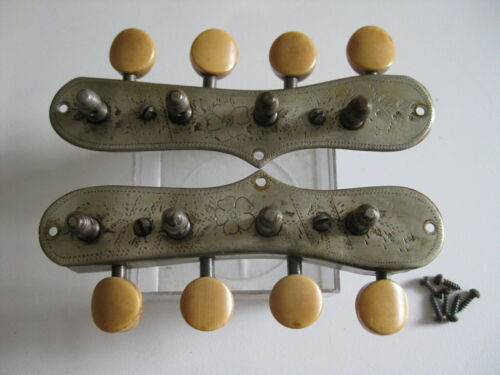 Vintage Martin Engraved Mandolin Tuners Pegs Set for Project / Repair / Upgrade
