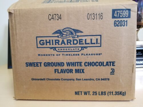 Ghirardelli Chocolate Sweet Ground White Chocolate Flavor Mix 25 Pound EXPIRED