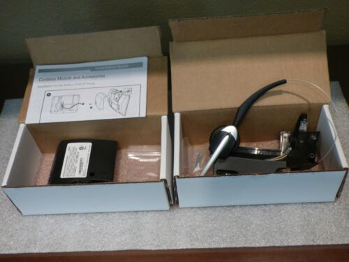 MITEL Cordless Headset Bundle p/n 50005712. Complete with new ear muff!