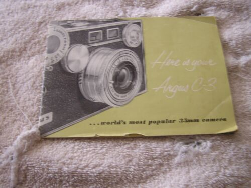 Argus C3 Camera Instruction manual