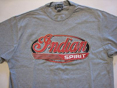 Indian Motorcycle Spirit Gray Short Sleeve T-Shirt - Small