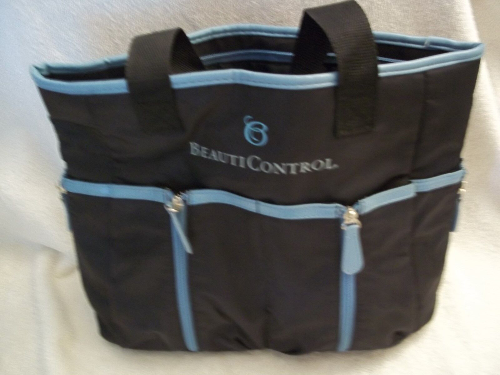 Beauticontrol Tote Bag Black With Pockets Inside & Outside