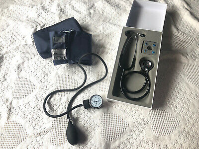 Stethoscope And Manual Blood Pressure Set - Sphygmomanometer W Adult Size Cuff