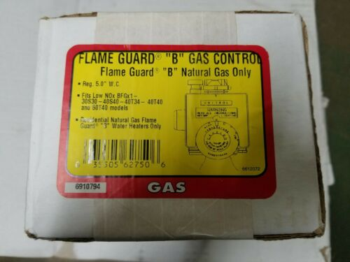 """FLAME GUARD """"B"""" GAS CONTROL VALVE  Made buy UNITROL fits low NOx  WATER HEATER O"""