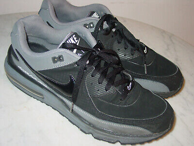 2011 Mens Nike Air Max Wright Black/Cool Grey/White Running Shoes! Size (Nike Air Max Wright Black Cool Grey)