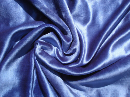 antique lightweight blue silk velvet for small bebes and mignonettes
