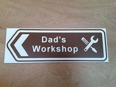 "/""Grandad/'s Railway/"" brown arrow sign Ride on Railways"