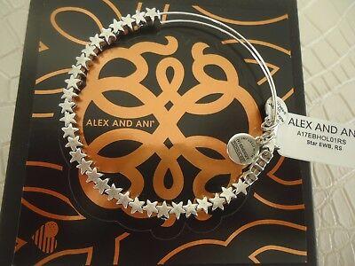 Alex And Ani Star Rafaelian Silver Charm Bracelet New W  Tag Card   Box