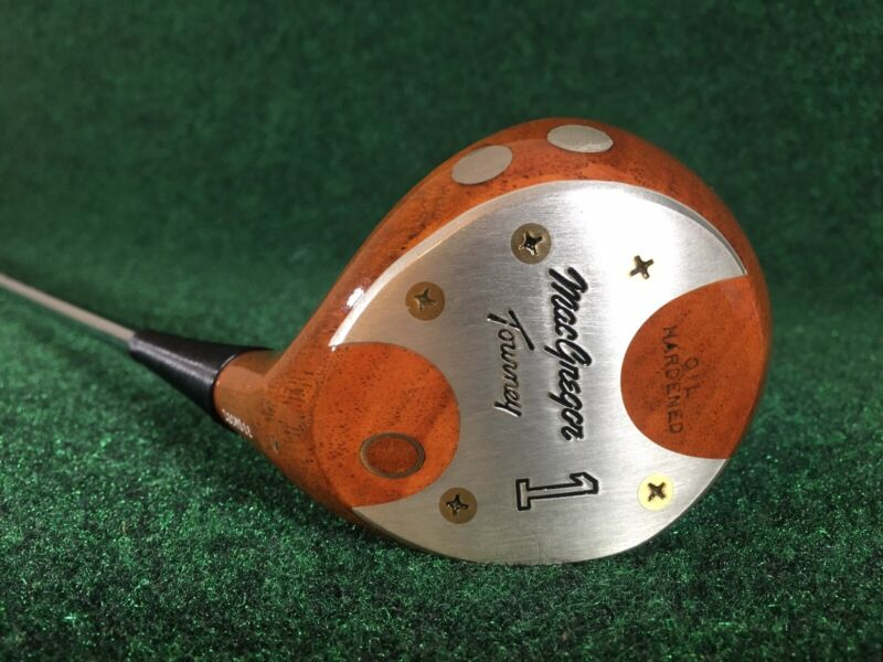 Vintage MacGregor Tourney Oil Hardened 1 Wood Persimmon RH - Near Mint! CLEAN