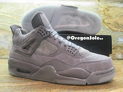 Nike Air Jordan 4 IV Retro KAWS SZ 11 Cool Grey Suede Glow In Dark 930155-003