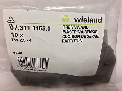 Lot Of 10 Wieland Electric Electrovert 07.311.1153.0 Partition Plate Gray