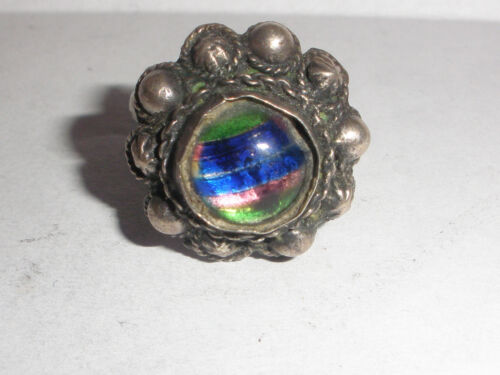 Rare  Antique Arabic Iraq middle east  sterling silver  ring size 6.5