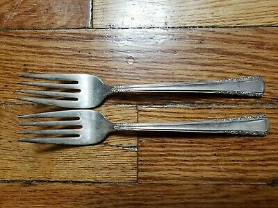 Holmes /& Edwards Jamestown Silverplate Cocktail Seafood Fork Set of Two