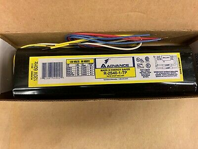 2 Pack  Advance Ballast Replacement RELB2S40SC 120V 60HZ New In Box Free Mailing