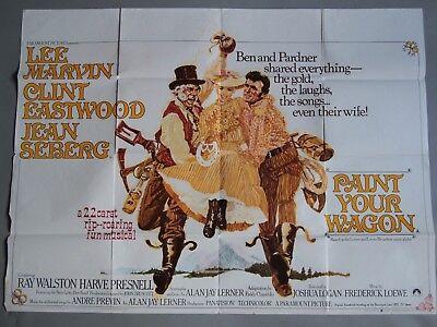 Paint Your Wagon Original UK Quad Poster Clint Eastwood