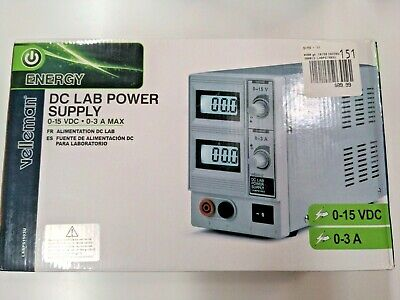 Velleman Dc Lab Power Supply 0-15 Vdc0-3a Max With Dual Lcd Display