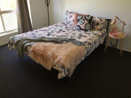 Queen bed and mattress metal frame