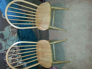 4 Maple bow back chairs London Ontario image 1