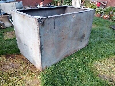 Large Riveted garvinised Water Tank Planter Trough Vintage Antique