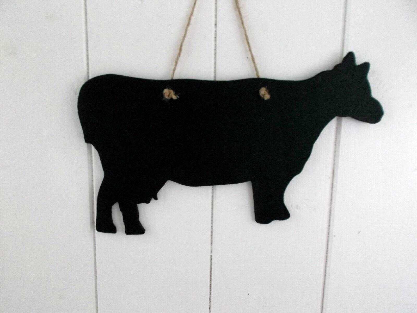 dairy cow shape chalkboard blackboard christmas shop sign farm