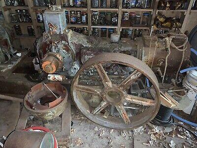 Vtg Antique Worthington Air Compressor Hit Miss Steam Engine Large Gear Wheel