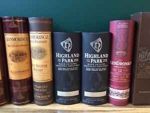 Bouteilles de scotch vides Emory bottles