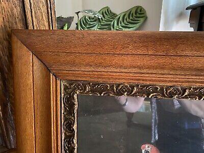 Burr Oak Antique frame w/ Grand Piano Romantic Impressionist Music vintage print