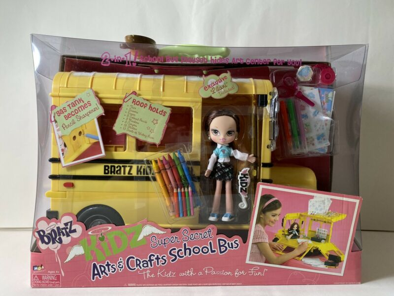 MGA Bratz Arts & Crafts School Bus with Bratz Doll Rare Brand New