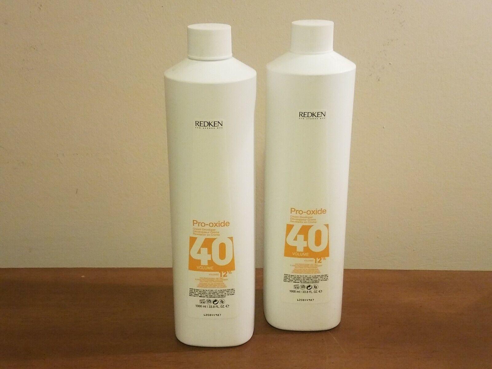 2 count Redken Pro-Oxide Cream Developer 40 Volume 2x 33.8 oz (67.6) * NEW