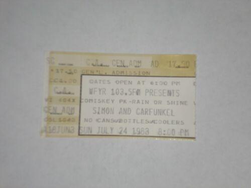 Simon and Garfunkel Concert Ticket Stub-1983--The Boxer-Comiskey Park-Chicago,IL