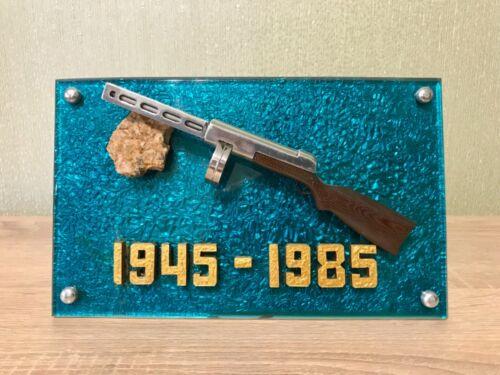 Vintage Soviet Russian WWII PPSh-41 Submachine Gun DeskTop Metal Souvenir USSR