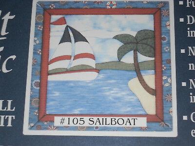 "Quilt Magic #105 Sailboat  Kit 12"" x 12"" No Sew Wall Hanging Kit"