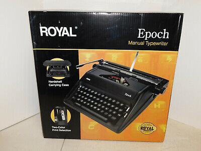 New Royal Epoch Manual Typewriter Black 79100g Roy79100g Sealed Box