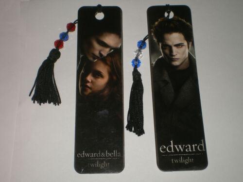 Twilight Movie Saga EDWARD & BELLA Tassled BOOKMARK SET Rare!