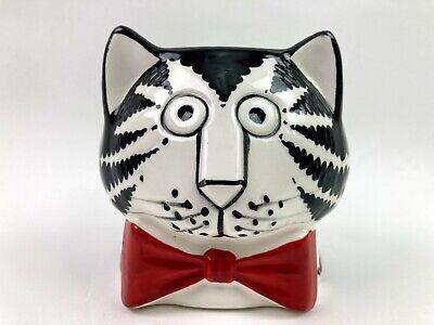 Vintage Kliban Black And White Tuxedo Cat Sigma Taste Setter Mug Coffee Cup D6