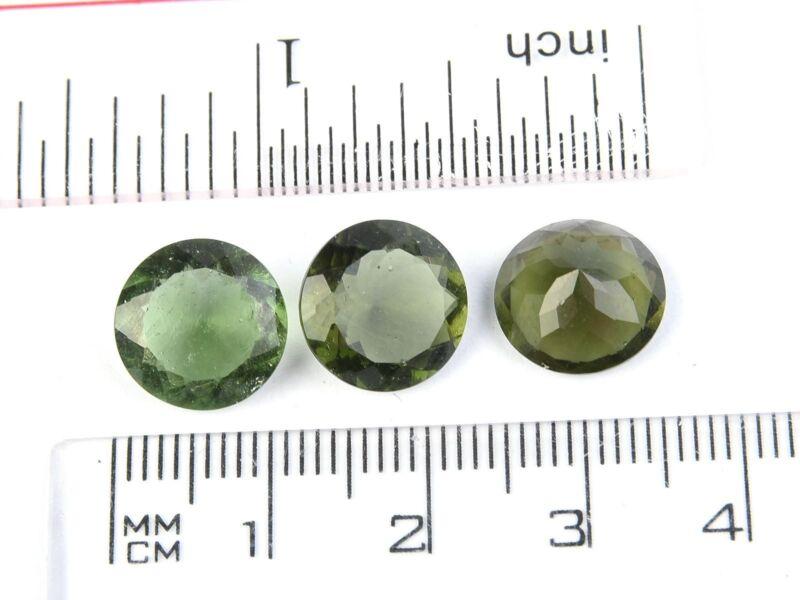 0.62-0.65g round 11mm STANDARD CUT moldavite faceted cutted gem BRUS1817